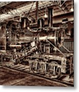 Old Climax Engine No 4 Metal Print