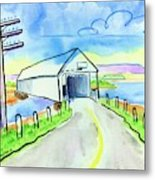 Old Covered Bridge - Avonport N.s. Metal Print