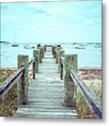 Old Dock Hyannis Port Cape Cod Ma Metal Print