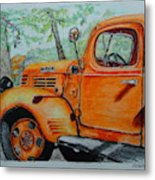 Old Dodge Truck At Patterson Farms Metal Print