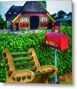 Old Dutch Cottage Painting Metal Print