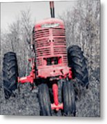 Old Farmall Farm Tractor Color Separation Nh Metal Print