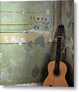 Old Guitar Metal Print