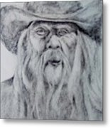Old Man In A Hat  Metal Print