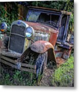 Old Model Aa Ford In The Jungle 2 Metal Print