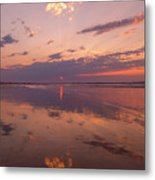Old Orchard Beach Glorious Sunset Metal Print