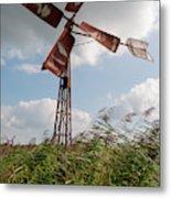 Old Rusty Windmill. Metal Print