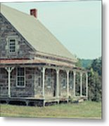Old Stone Farm House Newbury Vermont Metal Print