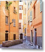 Old Town Of Nice, French Riviera, France Metal Print
