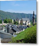 old town walls and church and buildings of Cochem Metal Print