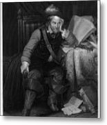 Oliver Cromwell With Killing No Murder Metal Print