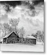 On A Winter Day Monochrome Metal Print