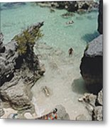 On The Beach In Bermuda Metal Print