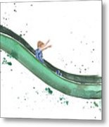 On The Slide Metal Print