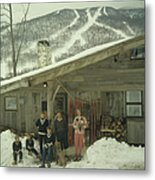 On The Slopes In Stowe Metal Print