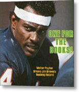 One For The Books Walter Payton Breaks Jim Browns Rushing Sports Illustrated Cover Metal Print
