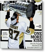 One More Kiss How The Penguins Marched To The Franchises Sports Illustrated Cover Metal Print