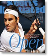 Open Your Mind What The World Can Learn From Roger Federer Sports Illustrated Cover Metal Print
