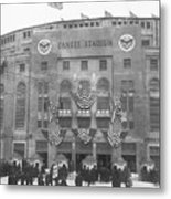 Opening Day For Yankee Stadium In New Metal Print