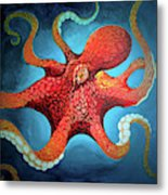 Optical Octopus Metal Print