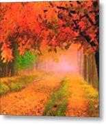 Orange Fall Metal Print