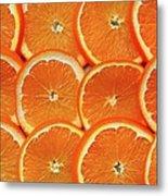 Orange Fruit Slices Metal Print