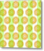 Orange Slice Pattern 2 - Tropical Pattern - Tropical Print - Lemon - Orange - Fruit - Tangerine Metal Print