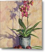 Orchids And Plums Metal Print