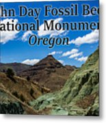 Oregon - John Day Fossil Beds National Monument Blue Basin Metal Print