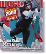 Oregon State University Chad Johnson Sports Illustrated Cover Metal Print