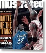 Orlando Magic Shaquille Oneal, 1995 Nba Eastern Conference Sports Illustrated Cover Metal Print