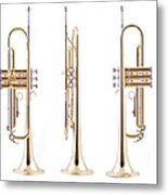 Orthographic Views Of A Trumpet Metal Print