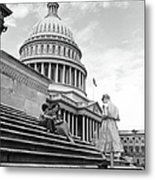 Outside The Capitol Metal Print