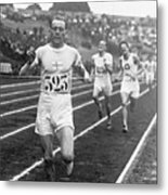 Paavo Nurmi Winning Olympic Track Race Metal Print