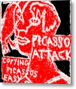 Pablo Picasso Attack 6 Metal Print