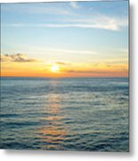 Pacific Ocean Sunset Metal Print