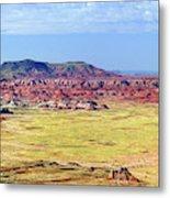 Painted Desert Panorama Metal Print