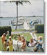 Palm Beach Society Metal Print