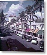 Palm Beach Street Metal Print