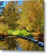 Palouse River Reflections Metal Print