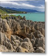 Pancake Rocks - New Zealand Metal Print