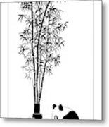 Panda Juice Metal Print