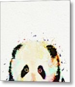 Panda Watercolor Metal Print