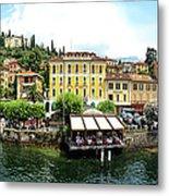 Panorama Of Bellagio From Lake Como Metal Print