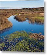 Panorama Of Mouth Of Betsie River Metal Print