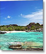 Panorama Of Spring Bay And The Baths Metal Print