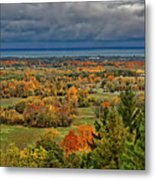 Panoramic Autumn View Metal Print