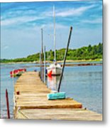 Paradise Sailing Day In Maine Metal Print
