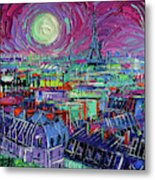 Paris By Moonlight Metal Print