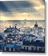 Paris Cityscape Taken From Montmartre Metal Print